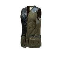 Beretta Sporting Vest - Cotton And Mesh W Leather Patch Dark Olive #gt691-02113-072A