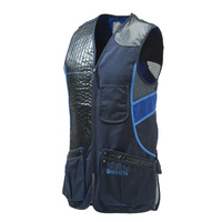 Beretta Sporting Vest - Cotton And Mesh W Leather Patch Blue Eclipse #gt691-02113-0504