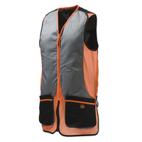 Beretta Silver Pigeon Shooting Vest - Cotton Black & Orange #gt031-02113-0945