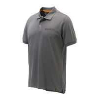 Beretta Corporate Striped Hunters Polo - Grey Melange #mp013-T1354-0915