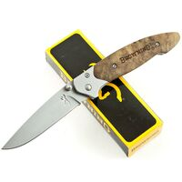 Browning Linerlock Folding Wood Pocket Knife - 4.5 Inch When Closed #322141