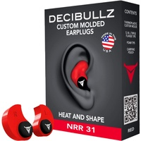 Decibullz Custom Molded Earplugs Nrr 31Db Red