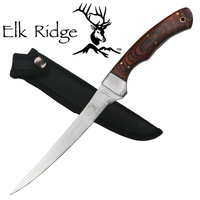 Elk Ridge Fillet Knife With Pakkawood Handle - 12.25 Inch Overall #er-028