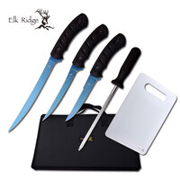 Elk Ridge Hunting Fishing Titanium Fillet Knife Set - 5 Piece #k-Er-926
