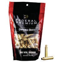 Federal Unprimed Brass 300 Win Magnum Rifle Brass Cases - 50 Pack #fup300Win