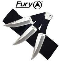 Fury 3 Cord Wrapped Throwing Knives In Sheath