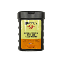 Hoppe's Lubricating Gun Oil Field Wipes 3.25'' X 5.25''  #1631