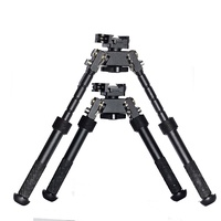 "Lazhets Qd Tactical 6""-9"" Folding Shooting Bipod W/ Picatinny Rail Swival Clamp"