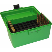 Mtm H50-Rm Deluxe 50-Round Rifle Ammo Box 220 Swift 22-250 243 308 Win