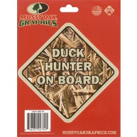 Mossy Oak Peel Sticker 'duck Hunter On Board'
