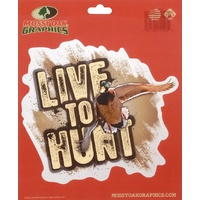Mossy Oak Peel Sticker 'live To Hunt' Mallard