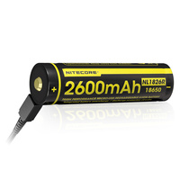 Nitecore 2600Mah Micro Usb Rechargeable 18650 Battery #nl1826R