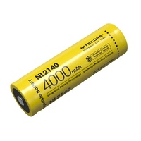 Nitecore 21700 Rechargeable Lithium Battery - 4000Mah 3.6V 10A #nl2140
