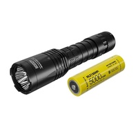 Nitecore Future Oriented Tactical Usb Rechargeable Led Torch Flashlight - 4400 Lumen W Holster & Battery #i4000R