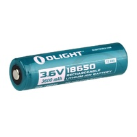Olight 3600Mah 18650 Protected Li-Ion Rechargeable Battery Orb-186P36