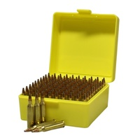 Max-Comp Ammo Box Sml Rifle 100Rnd Yellow Fits .204, .222, .223 Etc #ptab003