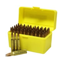Max-Comp Ammo Box Lge Rifle 50Rnd Yellow Fits .25-06, .270, .30-06 Etc Ptab006