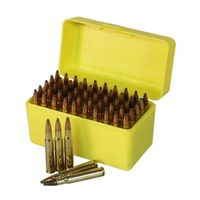 Max-Comp Ammo Box Med Rifle 50 Rnd Deluxe Yellow Fits .22-250 .243 .308 Etc Ptab005