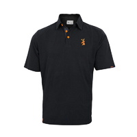 Spika Go Corporate Shooting Polo - Black #gsp-001