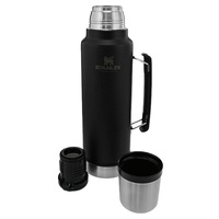 Stanley Classic Vacuum Bottle Insulated Flask - Matte Black 1 Litre #88411