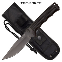 "Tac-Force Tactical Full Tang Fixed Blade Knife - 9.8"" Overall #tf-Fix012Bk"