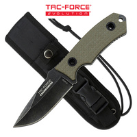 Tac-Force Evolution Tanto Stonewashed Fixed Blade Knife - 8 Inches Overall G10 Handle #tfe-Fix002-Tn