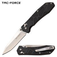 Tac-Force 8 Inch Hunting Tanto Manual Folding Knife - Black #tf-1031Bk