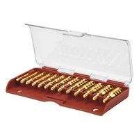 Tipton13 Piece Brass Jag Set  .17 to .45 Caliber 8-32 Threaded