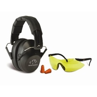 Walker's Pro Safety Shooting Earmuff Combo Kit - With Sport Glasses And Ear Plugs #gwp-Fpm1Gfp