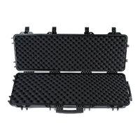 Heavy Duty Gun Case 40Inch Air Rifle Shotgun Storage W/ Wheels Lock Clip
