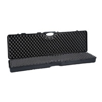124cm Hard Gun Carry Case For Single Rifle W Scope Interlocking Foam