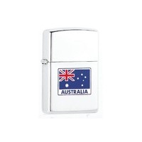 Zippo Windproof High Polish Chrome Lighter - Australian Flag #94100