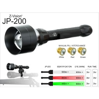 Z-Vision Jp-200 Rifle Mount Torch Kit Interchangeable 3 Led Lights