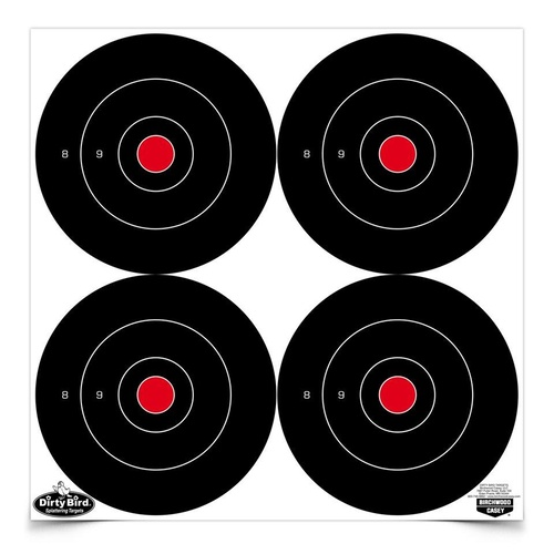 Birchwood Dirty Bird 6 Inch Bull's-Eye Shooting Targets 12 Sheets