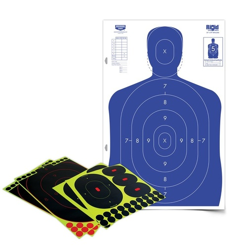 Birchwood Casey Shoot-N-C Silhouette Self Adhesive Paper Shooting Target Kit - With Corrugated Cardboard #34602