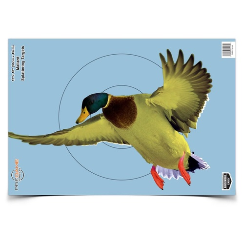Birchwood Casey Pregame Shooting Targets - 12X18 Inch Duck 8 Sheets #bc-35407
