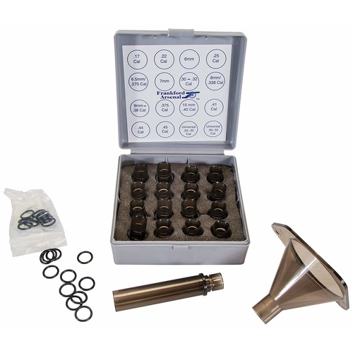 "Frankford Arsenal Funnel Kit With 16 Nozzles And 4"" Drop Tube"