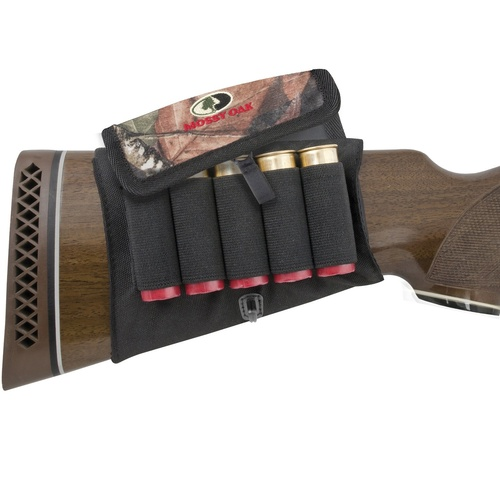 Mossy Oak Break Up Shotgun 5 Rounds Buttstock Holder W/ Cover