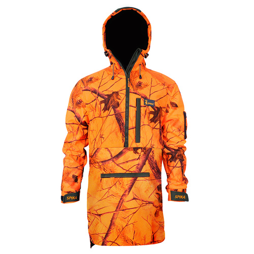Spika Equip Anorak Blaze Camo Apg Quiet Fabric Hunting Jacket